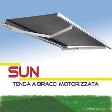 Tenda da sole a bracci SUN con motore incluso tessuti PARA realizzata SU MISURA