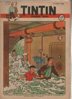 Journal TINTIN n°15 du 8 avril 1948 Couverture Hergé - Edition belge (RB1)
