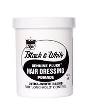 Black and White Hair Wax Pluko HAIR DRESSING POMADE 200ml+ Free Gift