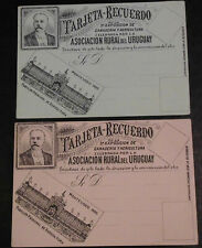2 cartes URUGUAY EXPOSITION 1895 Agriculture Postal  CARD early