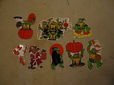 Teenage Mutant Ninja Turtles Retro 8 Pc Halloween Party Decoration TMNT Haloween