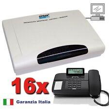 Kit Centralino telefonico analogico 4/16 linee Disa 90 sec + 16 telefoni Gigaset