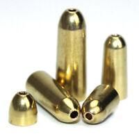 50 Pcs Brass Bullet Sinker Weight Kit Copper Fishing Sinkers Carp Tackle Pack #