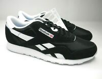 Reebok Classic Nylon Men's Trainers Size UK 10.5 New In Box Black & White