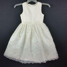 American Princess Girls Size 8 Ivory Tutu Sleeveless Sequin Embroidery Dress
