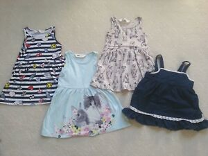 As NEW!!  Size 2 Girls H&M Dress Bundle-  incl., NEW pairs of Tom & Jerry sandal