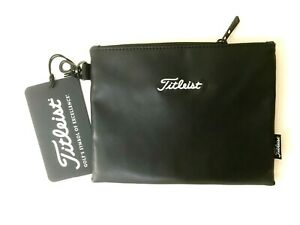 New - TITLEIST Professional Collection ZIPPERED Golf Valuables Travel POUCH Bag