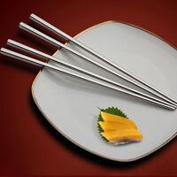 Stainless Steel Mirror Polished Square Chopsticks Flatware Household Dinnerware