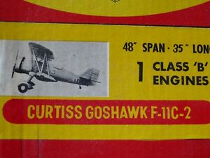 Aristo Craft Curtiss Goshawk F-11C-2 Model Airplane Kit K&B Johnson McCoy 35