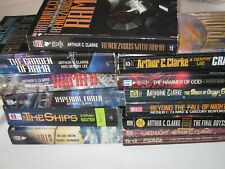 11 Arthur C. Clarke Sci-Fi Vintage Paperbacks + 2 Other Science Fiction Authors