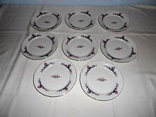 "8 Menuet Poland Royal Vienna Collection 6 3/4"" Bread Plates - Excellent"