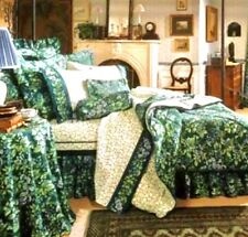 LAURA ASHLEY Vintage Green Floral Bramble Berry Twin Comforter Bedding