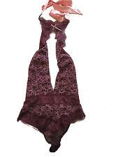 Victoria's Secret Dream Angels Lace High Neck Halter Bodysuit Ruby Wine Small