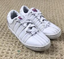 Childrens K Swiss Classic VN Sneakers White//Raspberry//Crystal 53343826 83343826