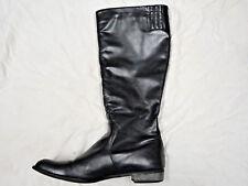 UNZE London black leather knee high boot   Size 10   Eur 41