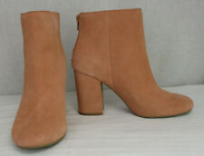 Kenneth Cole Reaction Carlyn Blush Pink Suede Leather Ankle Boots size 7.5 M