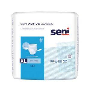 Seni Active Classic Inkontinenzslip, Pack á 30 Stück, Größe:  M L XL