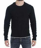 NEW $900 DOLCE & GABBANA Sweater Black Cotton Silk Knitted Pullover Top IT48 / M