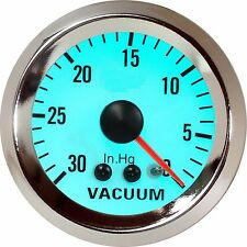 52 mm Chrome Rim, Mechanical Luminescent Auto Vacuum Gauge