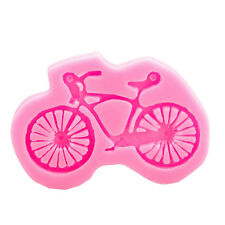 silicone 3D bike Bicycle Mould mold fondant Cup Cake Sugarcraft Resin fimo