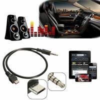 Micro USB Male to 3.5mm Male 50cm Car AUX Audio Stereo Cable For Samsung Huawei
