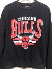Vintage Mitchell & Ness Chicago Bulls Crewneck Sweater Black Mens Medium