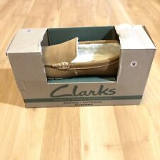 Clarks Mens Indoor Outdoor Slippers Rubber Sole Size 9 Medium BNWTS In Box