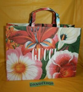 Large Gucci Floral Empty Designer Shopping Bag 19 x 14