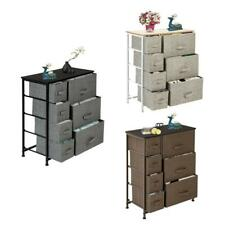 Heavy Duty 4 Tier 7 Drawer Dresser Storage Closet Removable Fabric Shelves