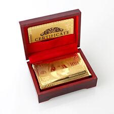 24K Karat Gold Plated Poker Game Playing Card +Nice Wood Box