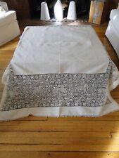 Antique Lace - Superb Lace Cloth W/ Mythological Animals,Stags, Unicorns,Etc.