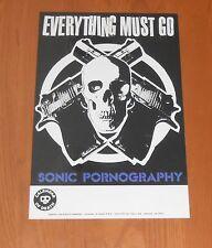 Everything Must Go Band Sonic Pornography Poster Original Tour Promo 17x11 RARE