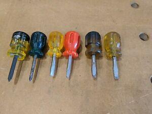Vintage Stubby Screwdrivers