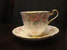 "Vintage Radford's ""Poppy"" Bone China Teacup and Saucer - Fenton"