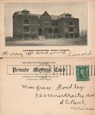 HURON COLLEGE S.D. VOORHEES DORMITORY ANTIQUE POSTCARD PRIVATE MAILING CARD
