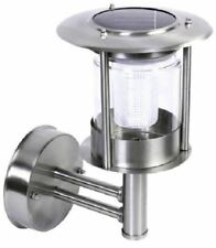 New 2 Stainless Steel Solar Wall Lamp White Led Light Outdoor Solar Powered