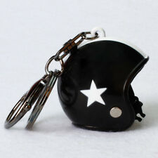 Creative Motorcycle Bicycle Helmet Key Chain Ring Keychain Keyring Key Fob Cool