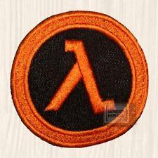 Half-life Logo Embroidered Patch Lambda Black Mesa Corp Gordon 2 Black & Orange