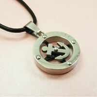 STAINLESS STEEL Anchor/ Star PENDANT ~BONUS Leather Cord or Ball Chain NECKLACE~