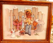 """African American Little Boy """"Jacob"""" Watercolor Framed Print"""