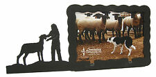 """Girl with Lamb Sheep Picture Frame 3.5""""x5"""" - 3""""x5"""" H"""