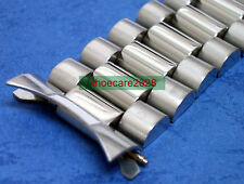 18mm President 70's Oyster Solid Steel Bracelet Watchband For Vintage Watches