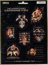 Hunger Games Catching Fire 8 Piece Magnet Set Katniss Peeta Finnick Mockingjay