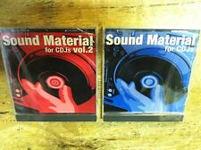 SOUND MATERIAL FOR CDJS VOL 1 + 2  CDJ  BEATS / TRACKS / SOUNDS / SAMPLES