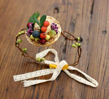 Newborn Baby Girls Fruit Strawhat Garland Headband Headwear Photography Props