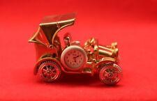 Fame/Oldtimer-Uhr/Deko/Gold-Silber/ Geschenk/Funktionsfähig/ Quarz/ OVP