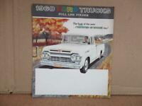 1960 Ford F100 Truck Full Line Sales Brochure  Original Fold out