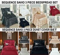 3 Pieces Duvet Cover Set & Bedspread Bedding Cover Quilted Set With 2 Pillowcase