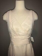 Yoana Baraschi Cream Crepe Shift Dress Size 8