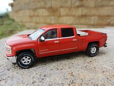 GREENLIGHT 1:64 *RED* 2015 Chevy SILVERADO Crew Cab Pickup Truck w/TOW HITCH